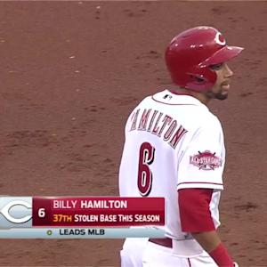 Hamilton steals four to reach 40