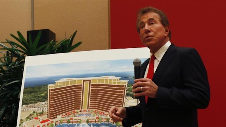 U.S. casino magnate Wynn introduces the company's latest casino resort during a news conference in Macau