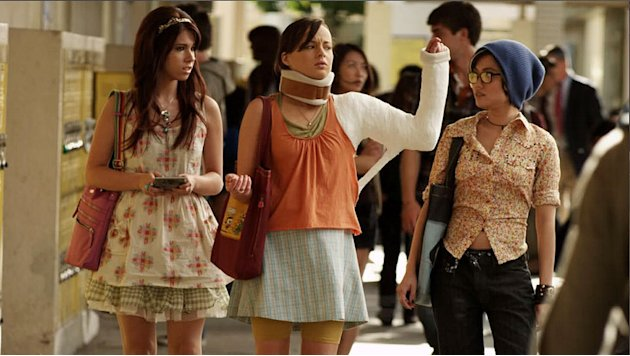 "Jillian Rose Reed as Tamara, Ashley Rickards as Jenna, and Jessica Lu as Ming in ""Awkward."""
