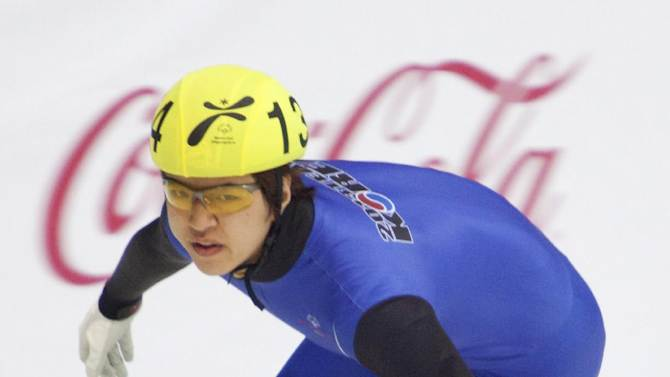 IMAGE DISTRIBUTED FOR SPECIAL OLYMPICS - Nanhyoung Kim of S. Korea skates in the women's 500-meter final short track speed skating event at the 2013 PyeongChang Special Olympics World Winter Games, in Gangneung, S. Korea on the fourth day of the competition, Friday, Feb. 01, 2013. (Manchul Kim/AP Images for Special Olympics)