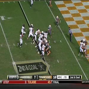 Vanderbilt - Robinette Game Winning Touchdown vs Tennessee