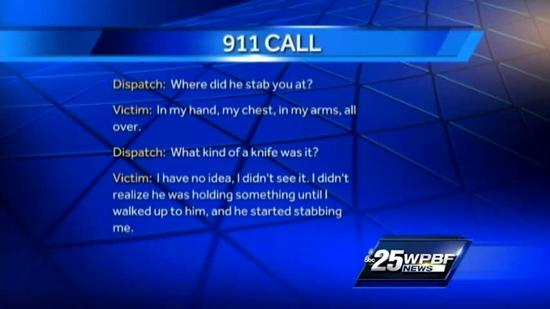Stabbing victim tells 911 dispatcher: 'I'm bleeding all over'