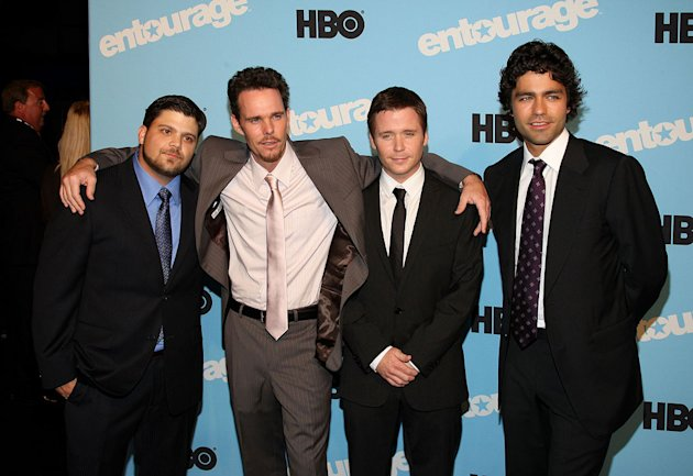Jerry Ferrara, Kevin Dillon, Kevin Connolly and Adrian Grenier attend the &quot;Entourage&quot; season 5 premiere at the Ziegfeld Theater on September 3, 2008 in New York City. 