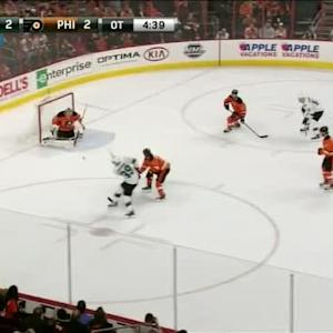 Steve Mason Save on Logan Couture (00:23/OT)