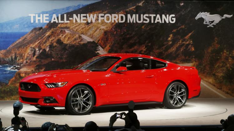 Ford Motor Co. unveils its all new 2015 Ford Mustang in Dearborn Michigan