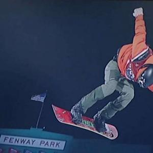 'Big air' snowboarders transform Fenway Park