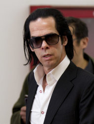 Australian musician and screenwriter Nick Cave arrives for a photo call to promote his new album, 'Push the Sky Away,' in Mexico City, Monday, Feb. 18, 2013. Cave is scheduled to give two concert performances in Mexico City. (AP Photo/Eduardo Verdugo)