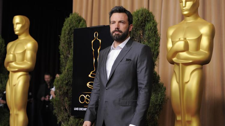 "Ben Affleck, nominated for best picture for ""Argo,"" arrives at the 85th Academy Awards Nominees Luncheon at the Beverly Hilton Hotel on Monday, Feb. 4, 2013, in Beverly Hills, Calif. (Photo by Chris Pizzello/Invision/AP)"