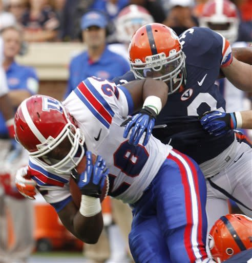 Louisiana Tech comes back, beats Virginia, 44-38