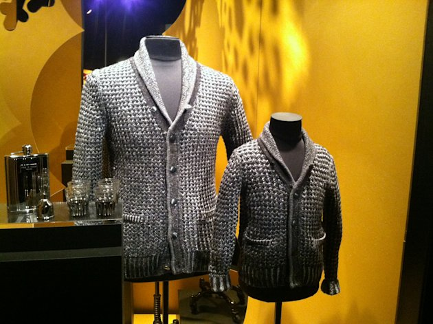 Men's and boy's sweaters from rag & bone retail for $69.99 and $49.99. Credit: Mary Pflum