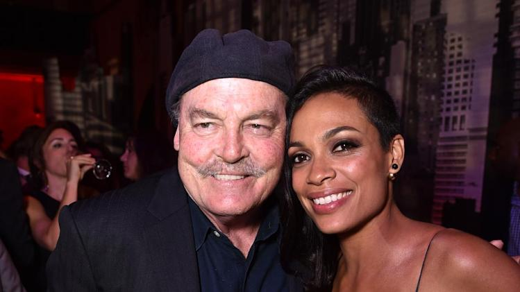 "Stacy Keach, left, and Rosario Dawson attend the ""Sin City: A Dame to Kill For"" premiere presented by Dimension Films in partnership with Time Warner Cable, Dodge and DeLeon Tequila at TCL Chinese Theatre on Tuesday, August 19, 2014, in Los Angeles. (Photo by John Shearer/Invision for The Weinstein Company/AP Images)"