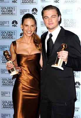Hilary Swank and Leonardo DiCaprio Best Actress and Actor for a Motion Picture - Drama Golden Globe Awards - 1/16/2005