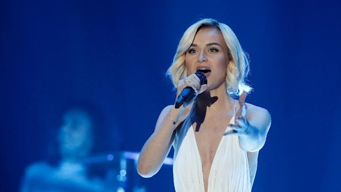 Polina Gagarina from Russia performs during the dress rehearsal for the Eurovision Song Contest final, in Vienna, on May 22, 2015