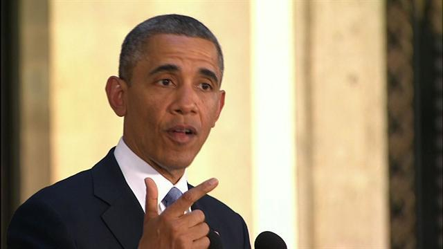 "Obama: We must ""look before we leap"" on Syria"