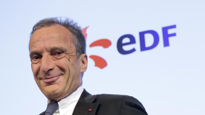 Henri Proglio, CEO of French state-owned utility EDF, poses prior to a presentation of the company's 2012 annual result in Paris