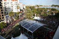 A general view shows people on the red carpet at the 65th Cannes film festival. More than a thousand women filmmakers and others have signed a US petition in support of French feminists protesting a lack of female directors in the line-up for the Cannes Film Festival's top prize