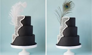These feathered accessories are a great way to add subtle style to your wedding cake
