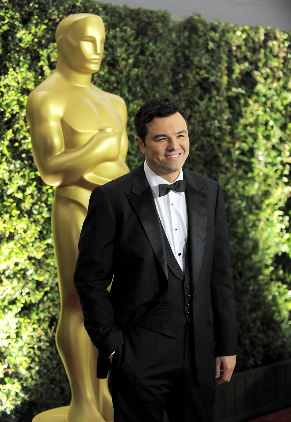 Seth MacFarlane arrives at the 4th Annual Governors Awards at Hollywood and Highland Center's Ray Dolby Ballroom on Saturday, Dec. 1, 2012, in Los Angeles. (Photo by Jordan Strauss/Invision/AP)