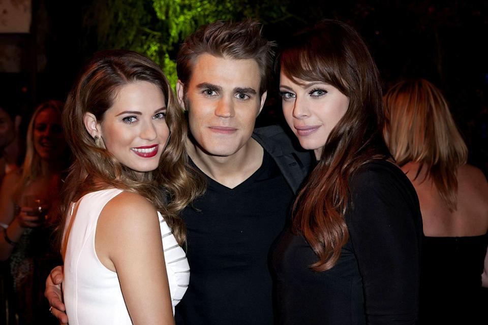"Lyndsy Fonseca (""Nikita""), Paul Wesley (""The Vampire Diaries""), and Melinda Clarke (""Nikita"") attend The CW Fall Premiere party presented by Bing at Warner Bros. Studios on September 10, 2011 in Burbank, California."