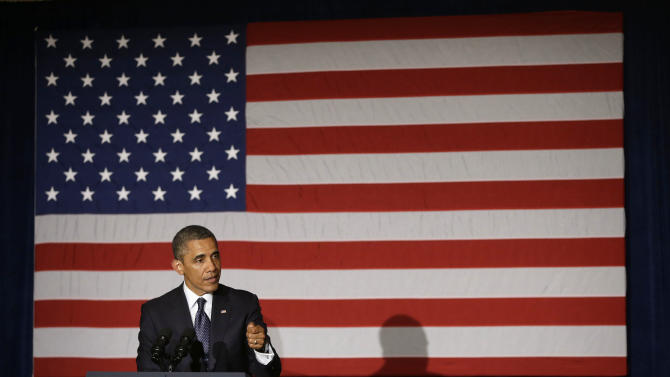 President Barack Obama speaks during a fundraiser in Chicago, Wednesday, May29, 2013. Obama traveled to Chicago for two fundraisers to raise money for the Democratic Congressional Campaign Committee. (AP Photo/Pablo Martinez Monsivais)
