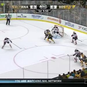 Frederik Andersen Save on Torey Krug (10:14/1st)