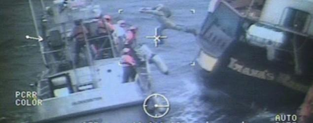 Dramatic rescue for crew of tourist pirate ship