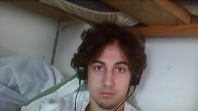 Handout image by the US Department of Justice/US Attorney's Office – District of Massachusetts, presented to jurors on March 23, 2015 in Boston, Massachusetts, shows Dzhokhar Tsarnaev entered as evidence in the Boston Marathon bombing trial