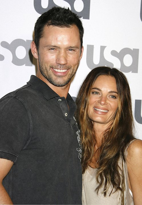 Jeffrey Donovan and Gabrielle Anwar arrive at &quot;Characters Welcome&quot; USA NetwAork celebrates it's Lineup of Stars on April 3, 2008 