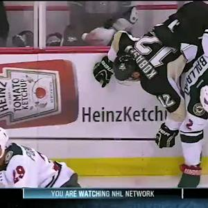Ballard flips Kobasew with classic hip check