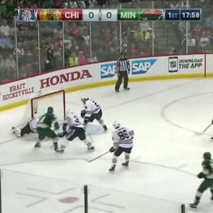 Corey Crawford Save on Matt Cooke (02:03/1st)