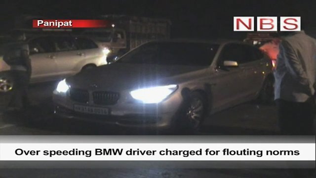 Over speeding BMW driver charged for flouting norms