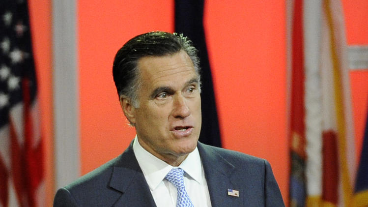 Republican presidential candidate, former Massachusetts Gov. Mitt Romney speaks at the NAACP annual convention, Wednesday, July 11, 2012, in Houston. (AP Photo/Pat Sullivan)