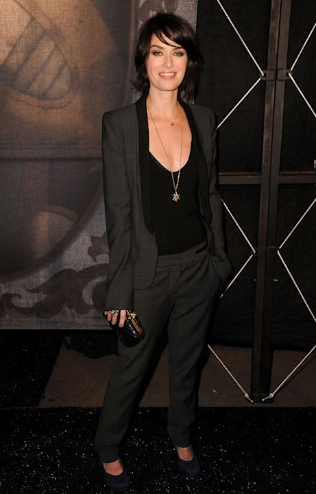 "Lena Headey arrives at Spike TV's ""Scream 2011"" at Universal Studios on October 15, 2011 in Universal City, California."