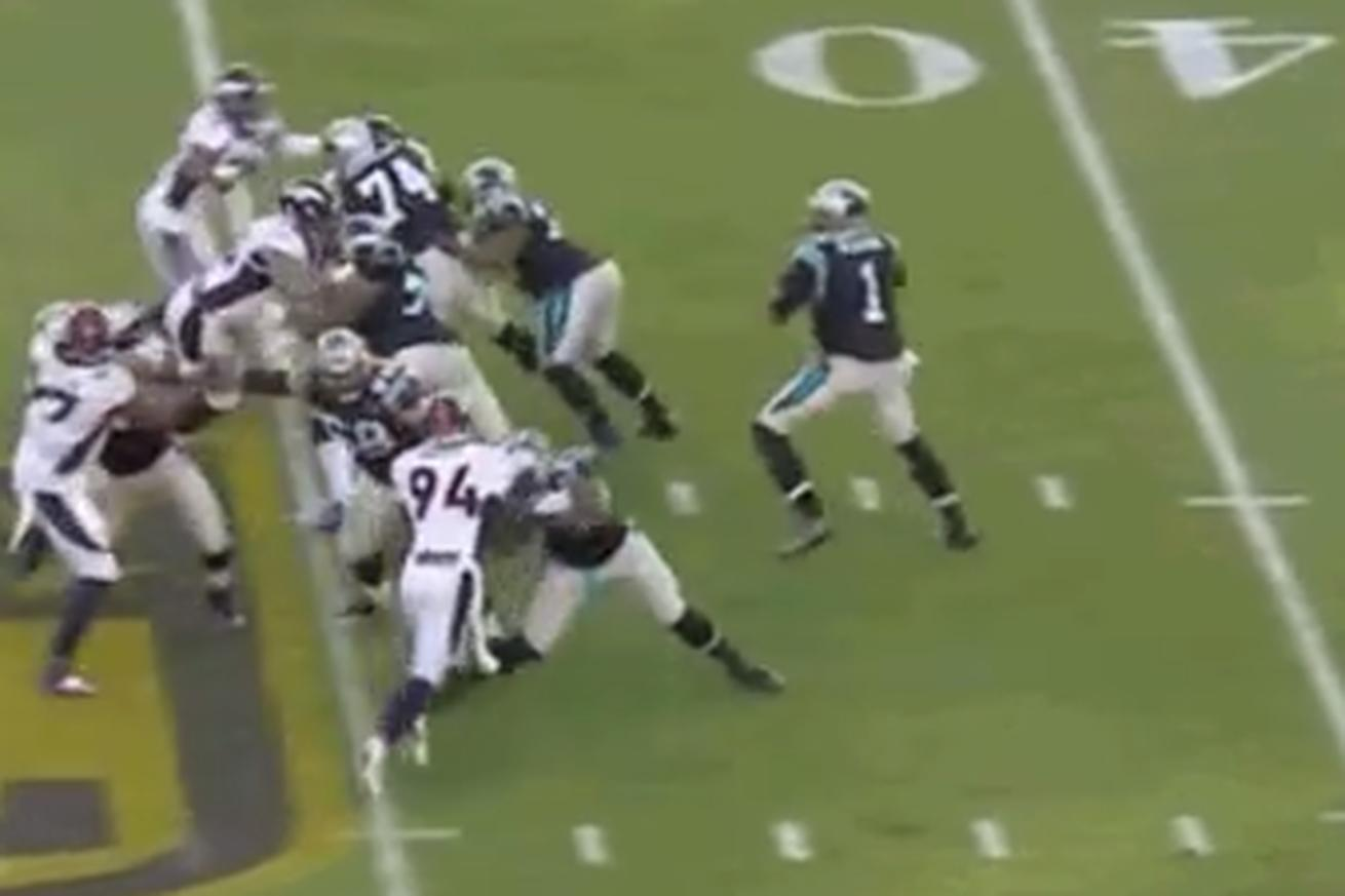 Michael Oher was sliding in the Super Bowl like he was wearing ice skates