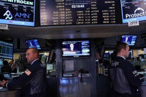 &lt;p&gt;A trader works on the floor of the New York Stock Exchange in September 2012 in New York City. US markets sank with the Nasdaq pulled down more than two percent by a tech stock rout led by Apple and Microsoft as a raft of disappointing earnings and trimmed forecasts spooked investors.&lt;/p&gt;