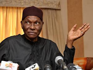 Former Senegalese President Abdoulaye Wade gives a press conference in Dakar, on May 25, 2012