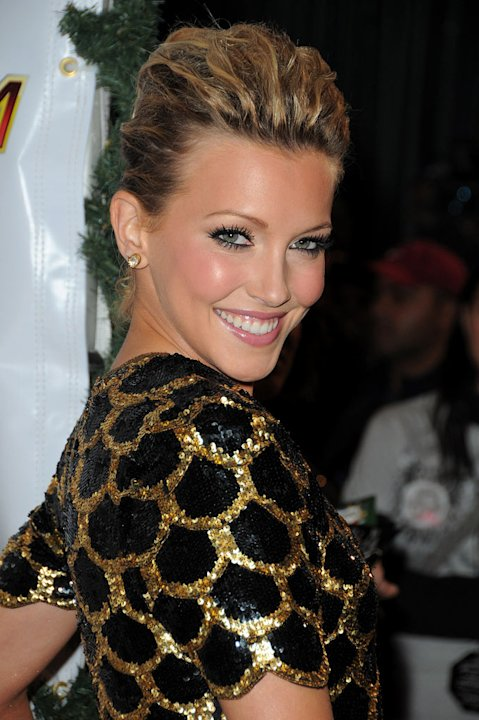 Katie Cassidy arrives at KIIS FMís Jingle Ball 2009 at Nokia Theatre L.A. Live on December 5, 2009 in Los Angeles, California.