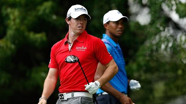 Rory McIlroy and Tiger Woods (AFP)