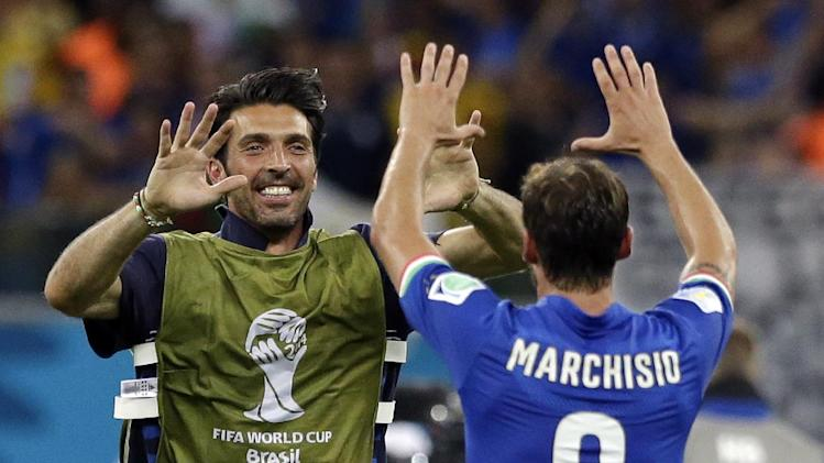 Italy captain Buffon, De Sciglio still injured