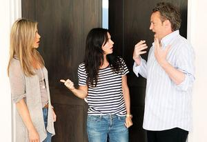 Jennifer Aniston, Courteney Cox and Matthew Perry  | Photo Credits: Michael Rozman/Warner Bros