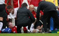 Wayne Rooney sustained a leg injury against Fulham