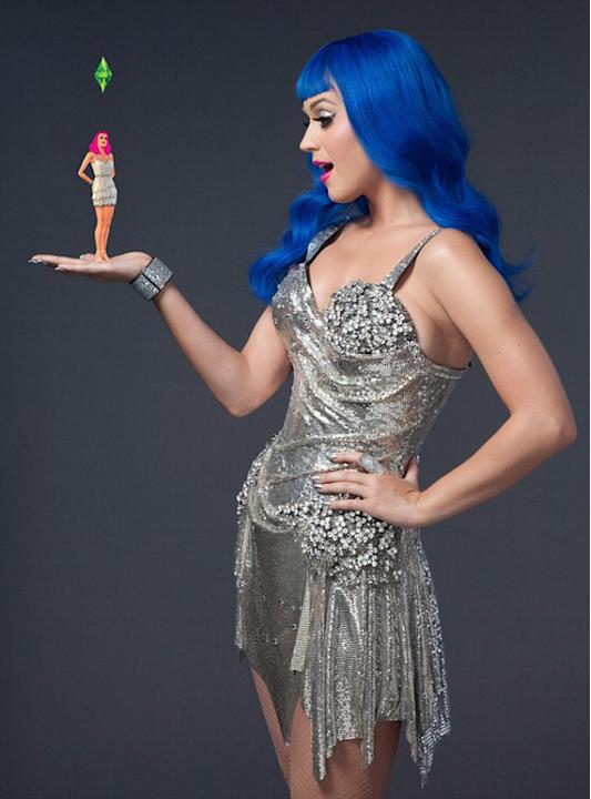 Katy Perry threw herself into work this week with the announcement that she's to be immortalised in the virtual world as a character in the computer game, The Sims.