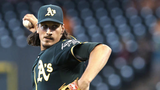 Samardzija pitches A's to 8-2 win over Astros
