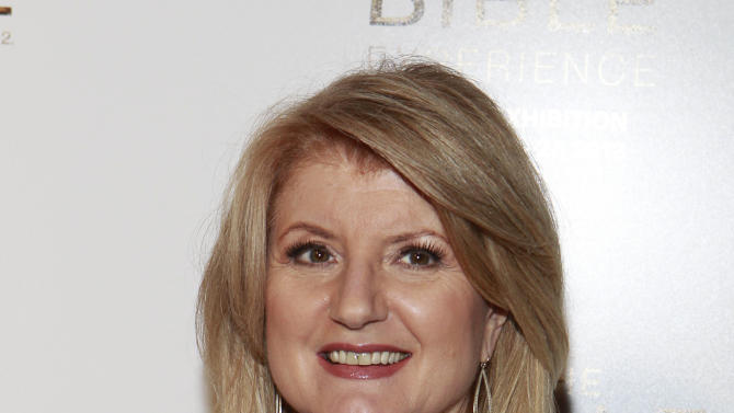 Arianna Huffington attend the celebration of theApril 2Blu-ray, DVD, and Digital HD releaseof THE BIBLEfrom Twentieth Century Fox Home Entertainment  during The Bible Experience opening night gala, a rare exhibit of biblical artifacts on Tuesday, March 19 in New York. (Photo by Mark Von Holden/Invision for Fox Home Entertainment/AP Images)
