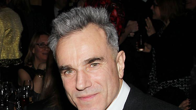 "FILE - This Jan. 7, 2013 file photo released by Starpix shows actor Daniel Day Lewis from ""Lincoln,"" at the New York Film Critics Circle awards dinner at the Crimson Club in New York. Lewis was nominated  for an Academy Award for best actor on Thursday, Jan. 10, 2013, for his role in ""Lincoln.""  The 85th Academy Awards will air live on Sunday, Feb. 24, 2013 on ABC.  (AP Photo/Starpix, Dave Allocca, file)"