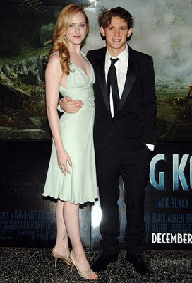 Evan Rachel Wood and Jamie Bell at the New York premiere of Universal Pictures' King Kong