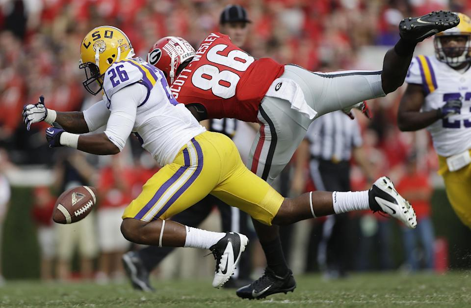 Murray leads No. 9 Georgia past No. 6 LSU 44-41