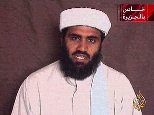 "Al-Qaeda spokesman Sulaiman Bu Ghaith speaks in an undated video message carried on Qatar's al-Jazeera television October 9, 2001 saying that the militant group believed in ""terrorism against oppressors"". [Osama bin Laden's] al-Qaeda group said on Tuesday that hijacked plane attacks on the United States would continue and that the ""battle"" would not end until America withdraws from Muslim lands. The station did not explain the origin of the statement but it appeared to be a video recording. Sulaiman Bu Ghaith had appeared with [bin Laden] on a recorded statement issued via Jazeera last Sunday. REUTERS"