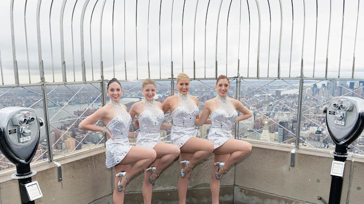 The Rockettes Light The Empire State Building In Celebration Of The 2012 Radio Christmas Spectacular