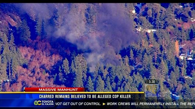 5AM UPDATE | Fugitive ex-cop believed to be dead after stand-off, fire